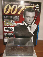 JAMES BOND CAR COLLECTION: 40*CITROEN TRACTION AVANT & MAG.Sealed/New conditiion