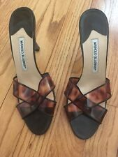 Authentic Manolo Blahnik Slides Heels Size 37 1/2 $457