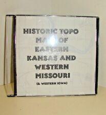 Historic Topo Maps of Eastern Kansas, Western Missouri and Western Iowa on CD