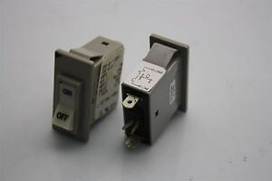 2x Airpax Circuit Breaker Rocker On-OFF Switch 203-2-1-66F-103-4-3-1 10A 32VDC