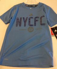 NEW YORK CITY FC Adidas Climalite Authentic Graphic Tee Size: Youth Small