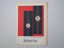 advertising Pubblicità 1961 OROLOGIO ZENITH CASSA IN ORO