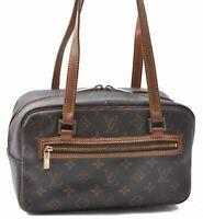 Authentic Louis Vuitton Monogram Cite MM Shoulder Bag M51182 LV B7705