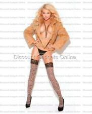 Elegant Moments Vivace lace top thigh high leopard o/s Lingerie