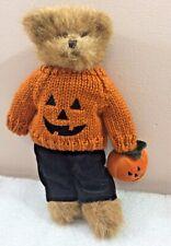 "Halloween Teddy Bear w/Pumpkin sweater 11"" stuffed plush Bearington Bears"