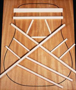 Adirondack Red Spruce Dreadnought / Jumbo Bracewood Kit, Guitar Brace Wood Set