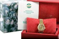 Rolex Ladies 18K Yellow Gold President -Factory Champagne Diamond Dial w/ Papers