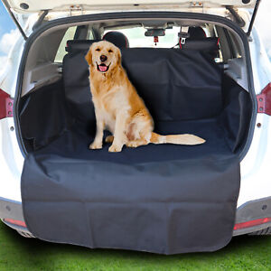 2 In 1 Waterproof Car Rear Back Seat Cover Pet Dog Boot Mat Cargo Liner Tray New