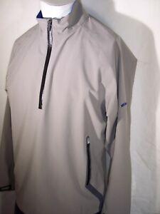 New Sun Mountain Medium Gray Poly/Spandex Rain Jacket Medalist Golf Club Norman