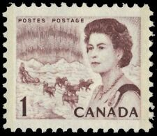 "CANADA 454pv - Centennial ""Dog Sled Team"" W2B Tag with PVA Gum (pa79192)"