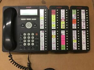 Avaya Black 16 Button Receptionist Office Business Telephone 2x BM32 1616