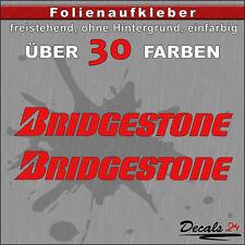 2er SET - Bridgestone Sponsoren Folien-Aufkleber - 30 Farben - 32cm