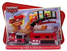 Disney Cars Mini Adventures Red & Trailer 2-Pack [Motorized Trailer!]