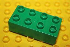 LEGO® Duplo - 5 X  Basic Bricks - briques 2 base -  Basic Stein - vert foncé 2x4