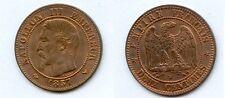 Gertbrolen 2 Centimes en bronze Napoléon III Tête nue 1857 Lille Exemplaire N° 4