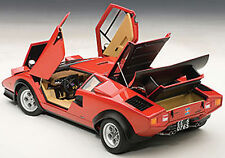 Autoart LAMBORGHINI COUNTACH WALTER WOLF EDITION RED 1/18 Scale. New! In Stock!
