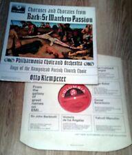BACH. ST MATTHEWS PASSION KLEMPERER STEREO SAX 2525 EX