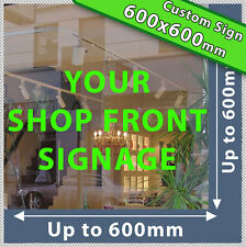 SHOP FRONT LETTERING Custom Large Business Vinyl Shop Sign sticker decal numbers