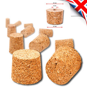 CORK BUNGS for Home Made Wine or Beer fit Demijohn Bottle - Different Size (UK)
