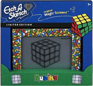 Etch A Sketch Classic Rubik Cube Limited-Edition Drawing Toy with Magic Screen
