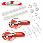 Red Anodized Aluminum Secure Safety Racing Hood Mount Lock Ring Pins For Toyota photo