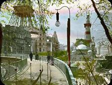 Photo. 1900. France. Paris Expo - Sidewalk in Motion