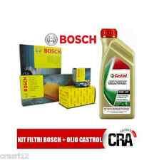 Kit tagliando olio CASTROL EDGE 5W30 5LT + 4 FILTRI BOSCH AUDI A3 2.0 TDI 140 CV