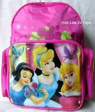 ~ Disney Princess - BACKPACK BAG GIRLS SCHOOL with 2 SIDE POCKETS