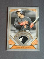 Jonathan School Patch Baltimore Orioles 2017 Topps Museum Collection 3/10