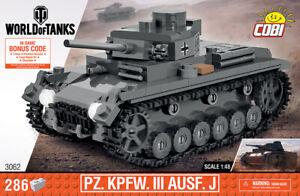 Panzer III ('World of Tanks') - COBI 3062 - 285 brick medium tank