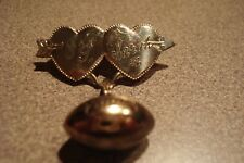 Sweetheart Pin 1942 with football double heart