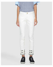 Jeans da donna medi bianco taglia 40