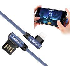 LEDELI Winkelstecker Schnellladekabel 90° geknickt Gamer Ladekabel für iPhone