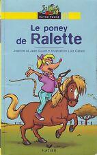 Le Poney de Ralette RATUS JAUNE  n° 28 * CP * Guion * Apprendre à lire débutants