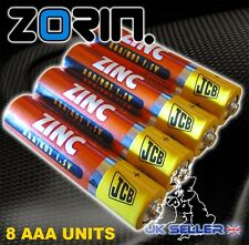 x8 JCB AAA BATTERIES HI QUALITY TOYS GAMES XBOX REMOTE LED VALUE PACK