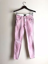 Genetic Denim womens skinny jeans 24 Shya Crop Cigarette Patriot light faded new