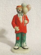 Vintage Emmett Kelly Jr Porcelain Balloon Clown Figurine by Flambro 6 inch