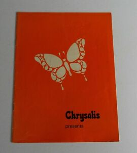Jethro Tull 1969 Chrysalis Presents UK Tour Programme Rare