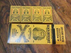 Vintage Antique Black-Draught Laxative NOS Box Graphics Chattanooga Medicine Co.