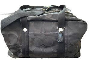 Coach Kyra Signature Travel Satchel Luggage Duffle Gym Shoulder Bag F77286