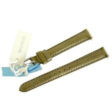 NEW Michele 12mm Metallic Tan Brown Patent Watch Band Strap Genuine Leather
