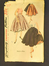 Vintage Simplicity Sewing Pattern 3813 Full Circle Skirt Petticoat Rockabilly