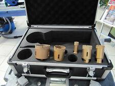 Bohrkronen Set, Diamantkronen im Koffer 5 tlg für Feinsteinzeug, Profiqualität
