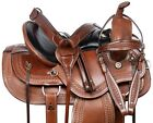HORSE SADDLE WESTERN GAITED TRAIL ENDURANCE COWBOY LEATHER TACK 16
