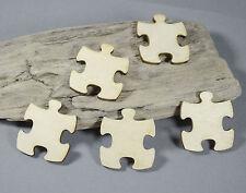 5 x Puzzle Embellishment MDF /  Birch Plywood Laser Cut Wooden Shape Blank MDF