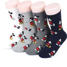 Zapatillas Disney icono para mujer Calcetines 4 Pares Hecho En Corea