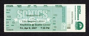 KOBE BRYANT 46 pts HOF 2007 Seattle Sonics vs LA Lakers 4/6 Full Ticket RARE!!!