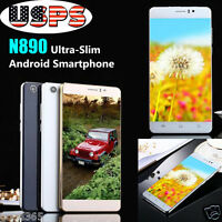 """6"""" Unlocked Quad Core Android 5.1 Smartphone IPS GSM GPS 3G Cell Phone AT&T WiFi"""