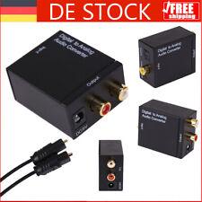 Digital zu Analog Audio Konverter Toslink-Cinch Adapter optische koaxiale DE