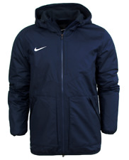 Mens Adults Kids Nike Team Fall Jacket Padded Winter Coat Fleece Lined Waist Small 36/38 Navy